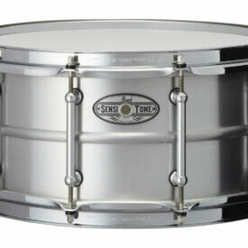 "Pearl 14"" x 6.5"" Sensitone Beaded Seamless Aluminum Snare Drum"