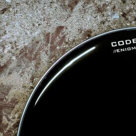 "Code 18"" Enigma Black Bass Drum Head"
