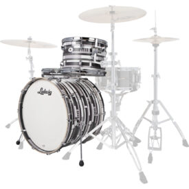 "Ludwig NeuSonic FAB 24"" 3 Piece Shell Pack - Digital Black Oyster"