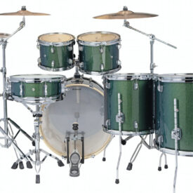 "Ludwig 22"" Evolution 6 Piece Drum Kit with Hardware - Green Sparkle"