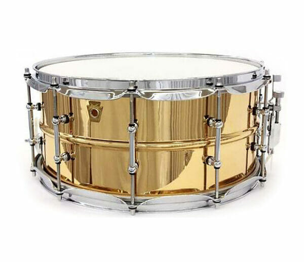"Ludwig 14x6.5"" Smooth Shell Bronze Snare Drum With Tube Lugs"