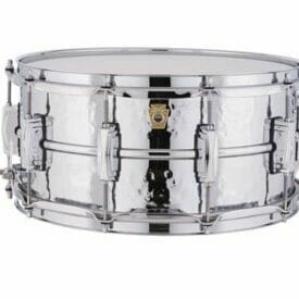 """Ludwig 14x6.5"""" Supraphonic Hammered Shell Snare Drum, Imperial Lugs"""