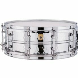 """Ludwig 14x5"""" Supraphonic Hammered Shell Snare Drum, Tube Lugs"""