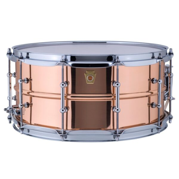 """Ludwig 14x6.5"""" Copper Phonic Polished Snare Drum with Tube Lugs"""