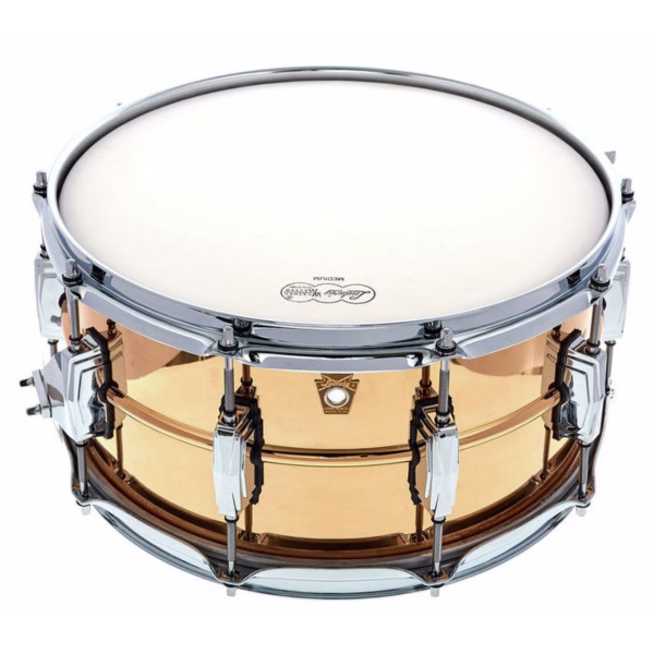 """Ludwig 14x6.5"""" Smooth Bronze Snare Drum with Imperial Lugs"""