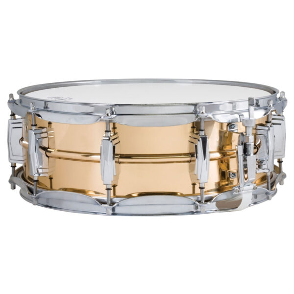 """Ludwig 14x5"""" Smooth Shell Bronze Snare Drum with Imperial Lugs"""