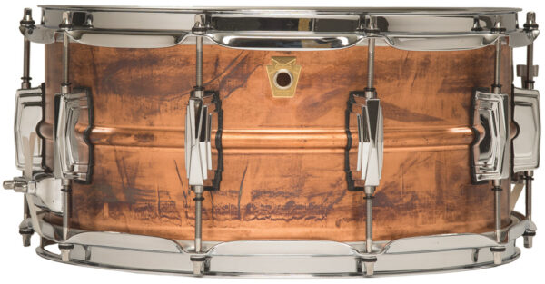 """Ludwig 14x6.5"""" Raw Copper Snare Drum with Imperial Lugs"""
