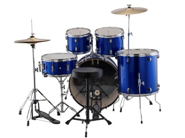 "Ludwig Accent Drive 22"" 5 Piece Starter Drum Kit - Blue Foil"