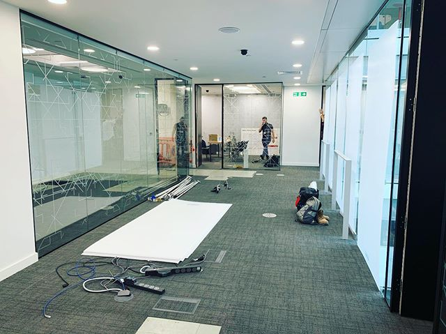 Good to see progress on site today as team transform the ITN executive suite.