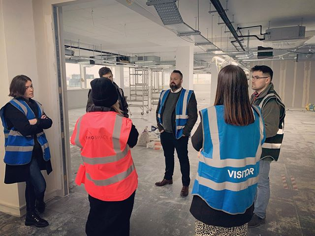 Loving a wintery site meeting. @echospace_london making good progress. T minus 4 weeks to PC. Nice work team!! 🏻