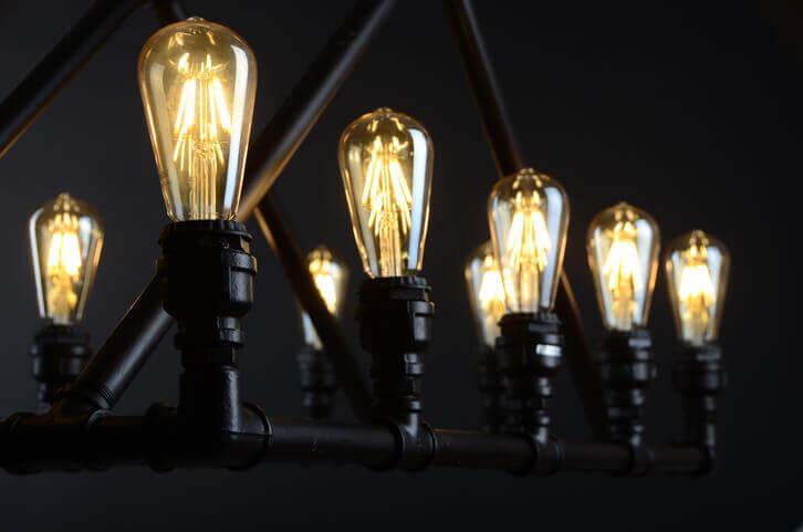 LED Edison Chandelier