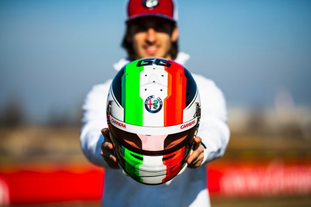 Alfa Romeo Racing: Antonio Tales The Driving Seat Day 2 Test-Antonio Giovinazzi behind the wheel of the Alfa Romeo Racing C38 in Barcelona – Day 2, 2019 Winter Testing
