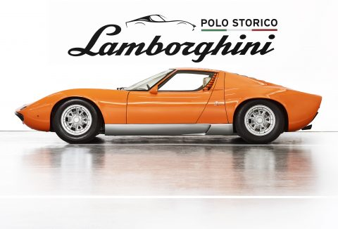 "Lamborghini Miura P400 used in the 1969 film ""The Italian Job"""