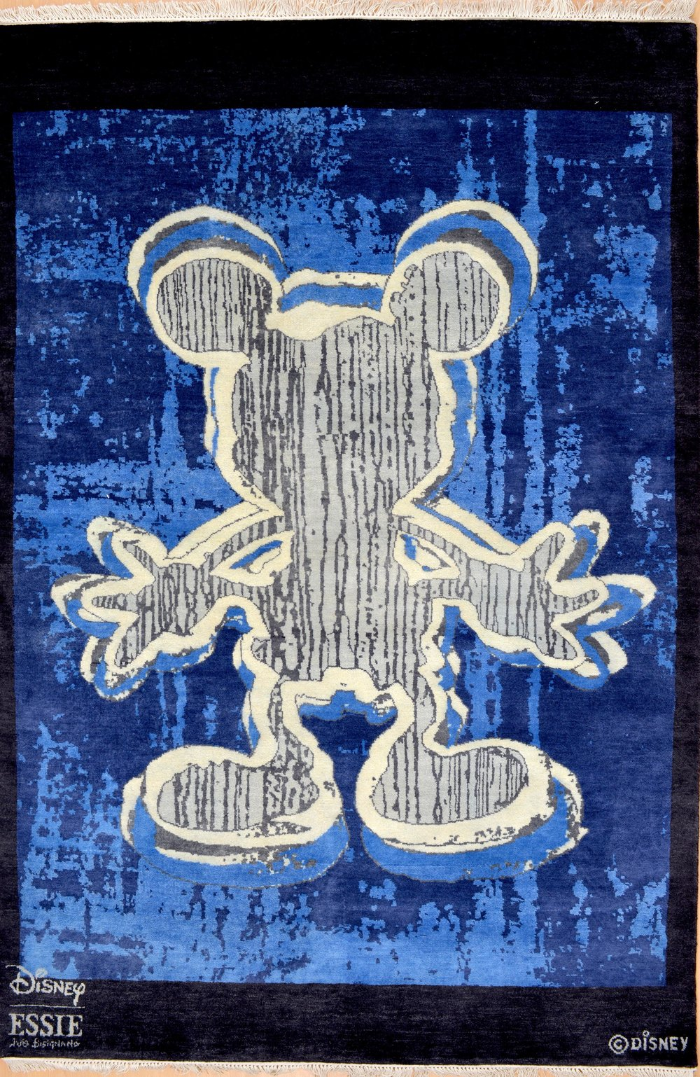Handmade Micky Mouse Original at Essie carpets Mayfair London