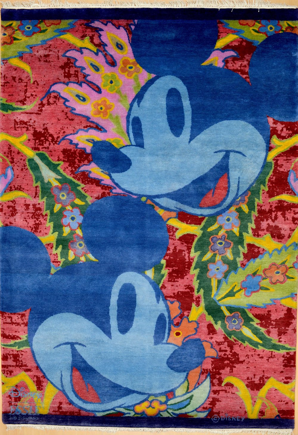 Blue Micky Mouse Face at Essie carpets Mayfair London
