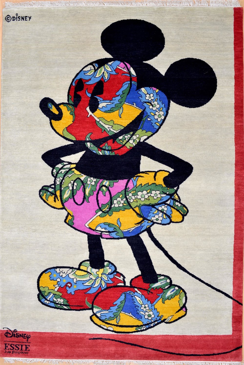 Handmade Disney Mickey Mouse Original at Essie carpets Mayfair London