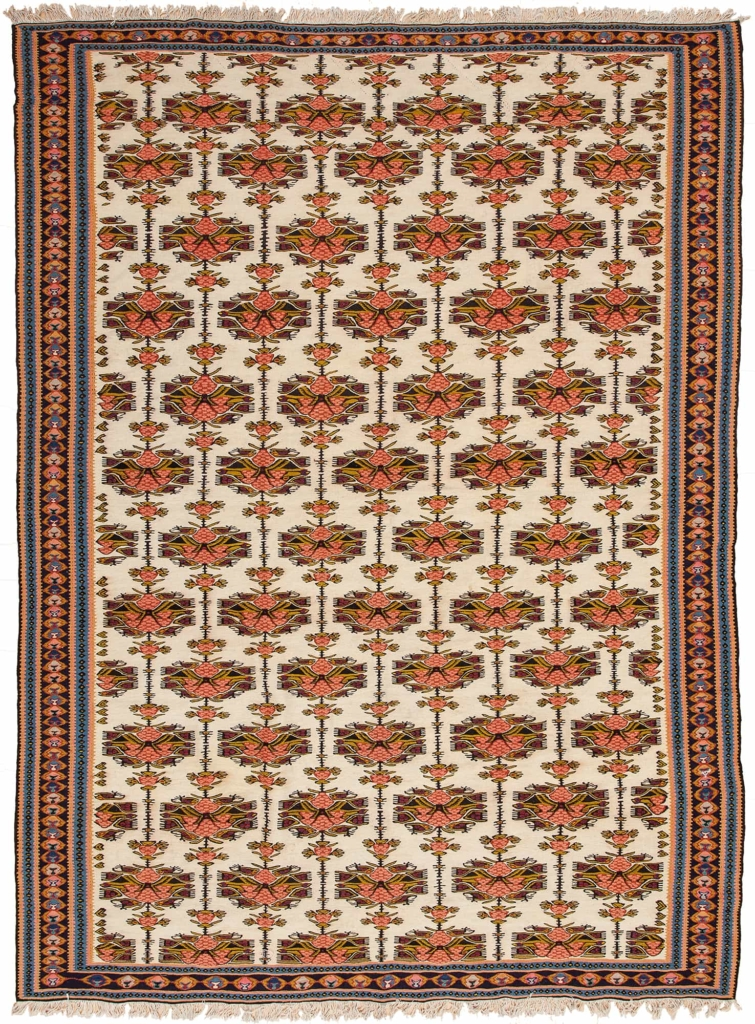 Persian  Senneh Sanadaj Kilim at Essie Carpets, Mayfair London