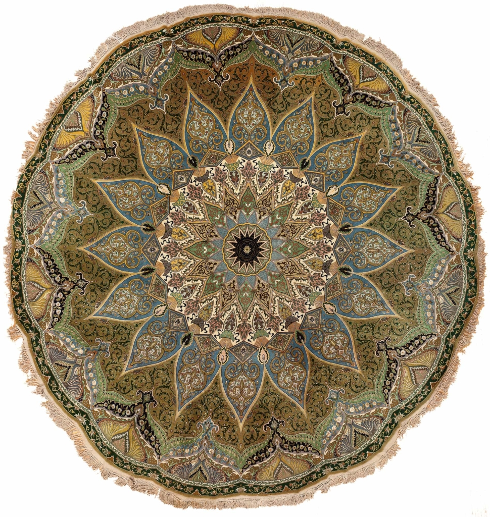 Magnificent Fine Round Persian Tabriz Rug at Essie Carpets, Mayfair London