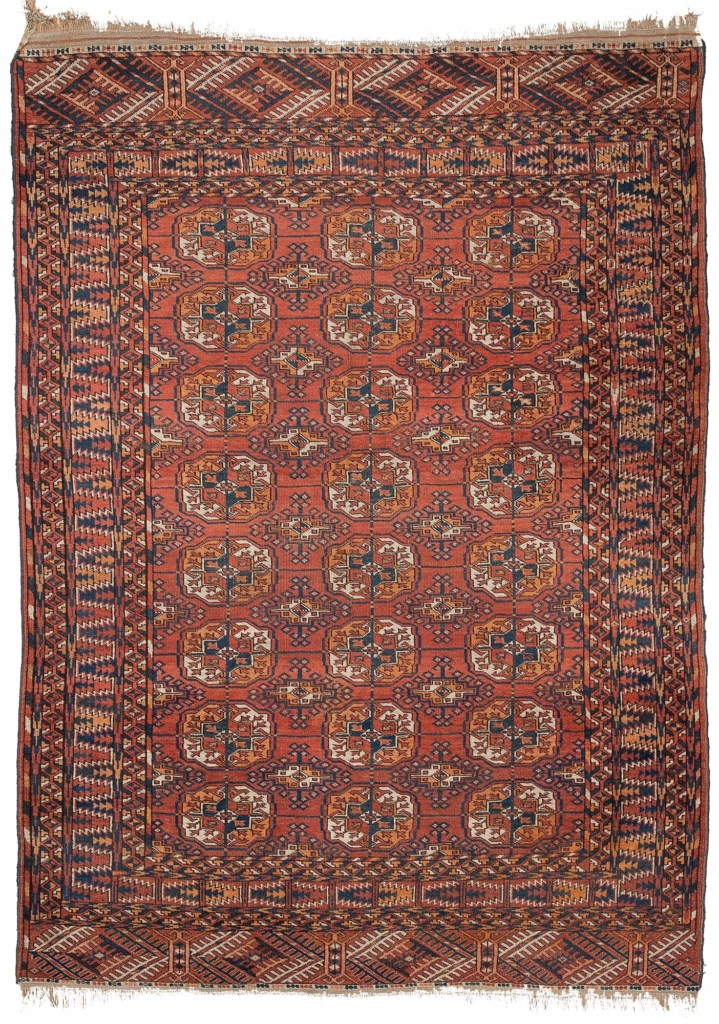 Russian Tekeh Rug at Essie Carpets, Mayfair London