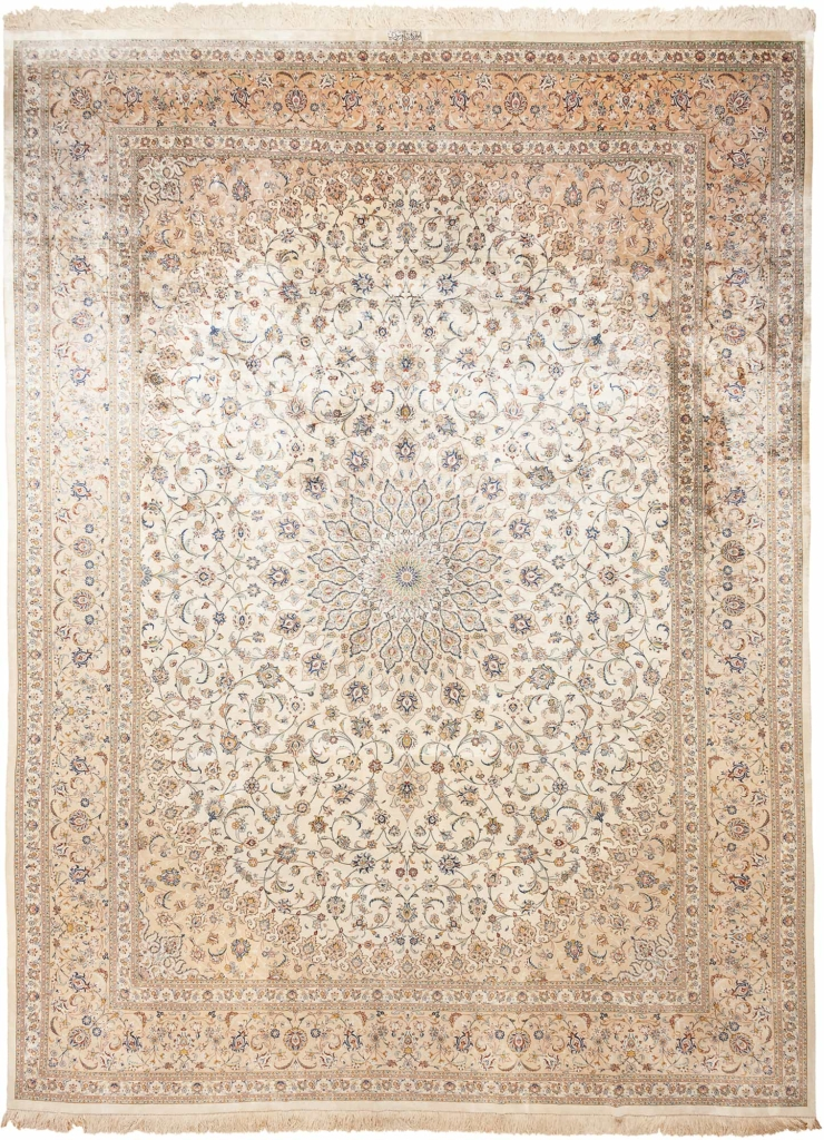 Very Fine Signed Persian Kashan Carpet at Essie Carpets, Mayfair London