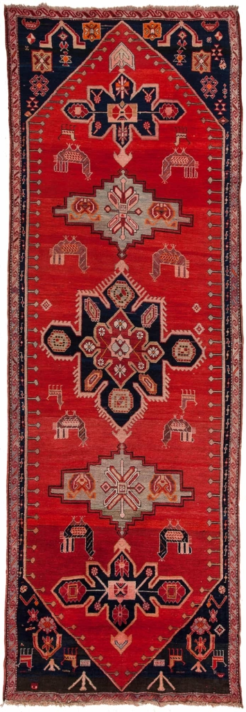Old Russian Karabakh Runner Rug at Essie Carpets, Mayfair London