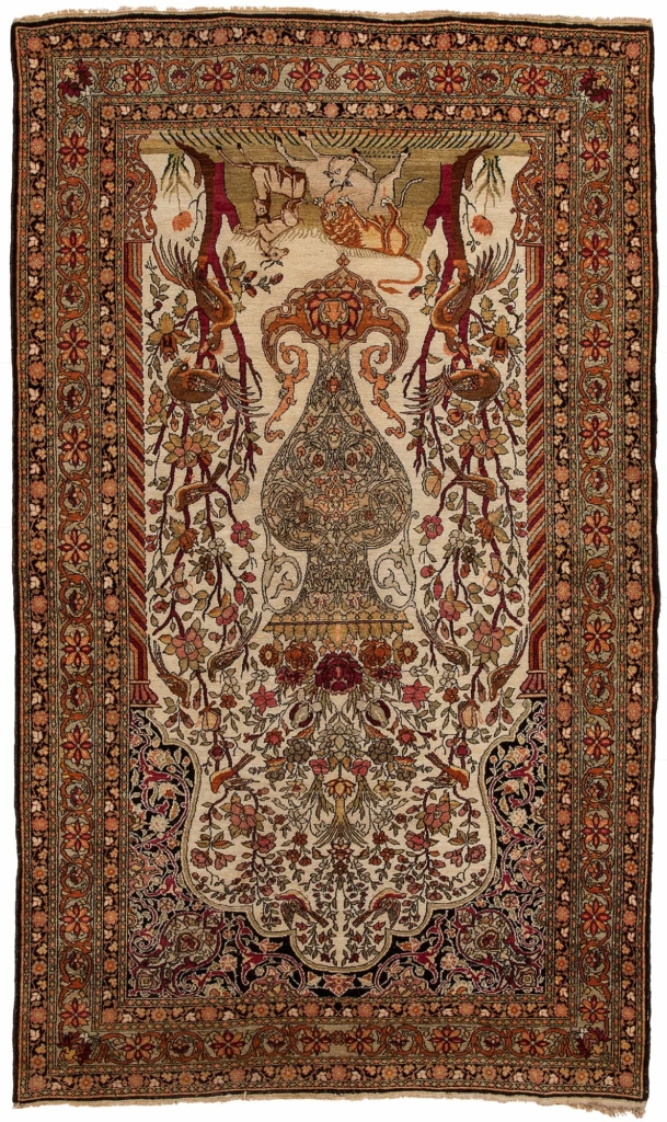 Tree of Life Very Fine, Old Persian Esfahan  Rug at Essie Carpets, Mayfair London