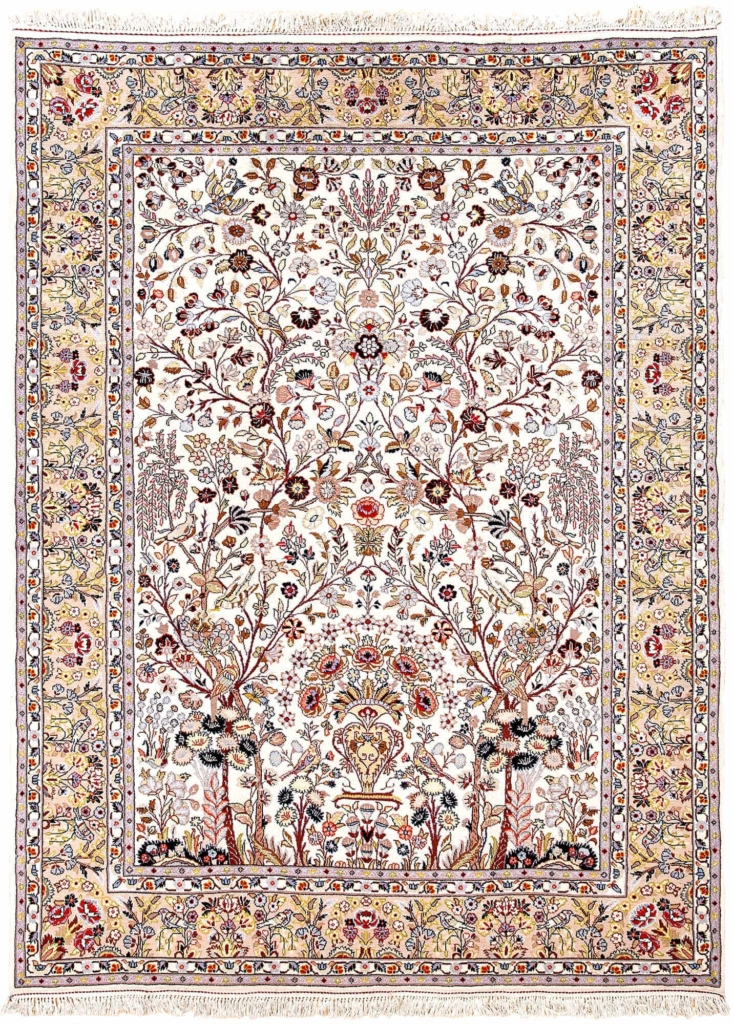 Tree of Life Fine Persian Kashan  Rug at Essie Carpets, Mayfair London