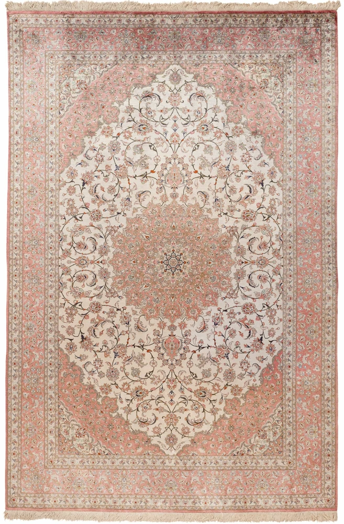 Very Fine, Exquisite, Signed Persian Qum Rug at Essie Carpets, Mayfair London
