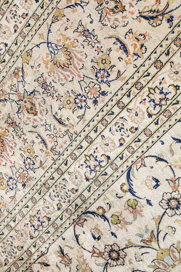Very Fine Signed Persian Qum Carpet at Essie Carpets, Mayfair London