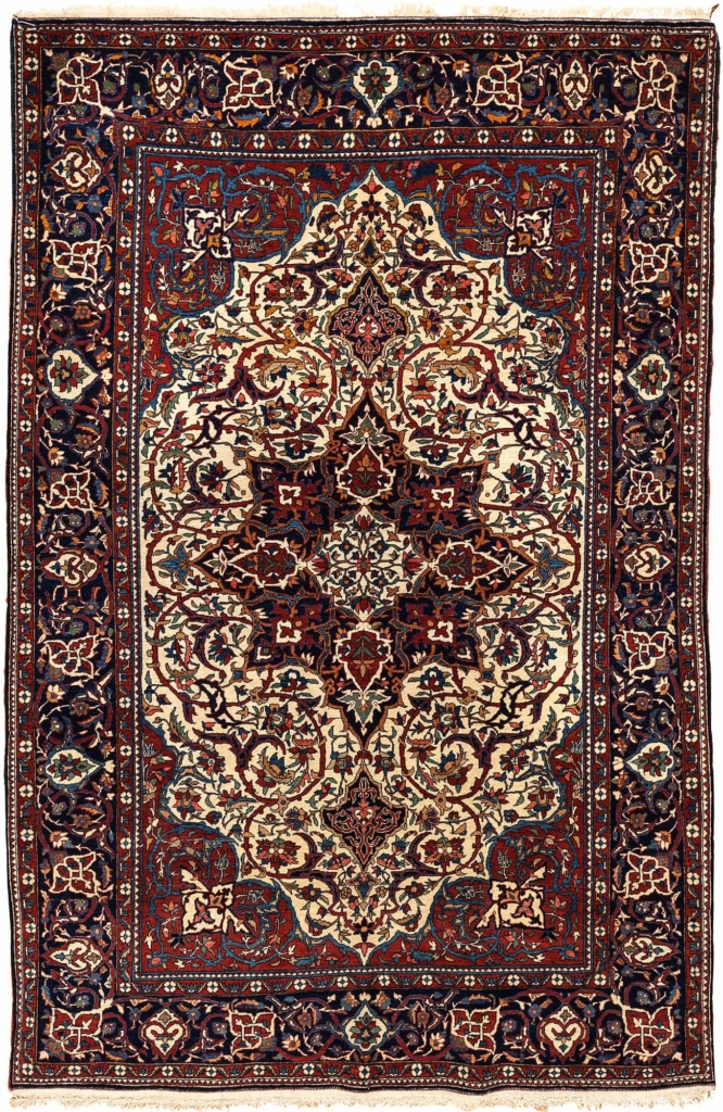 Fine Persian Esfahan Rug at Essie Carpets, Mayfair London