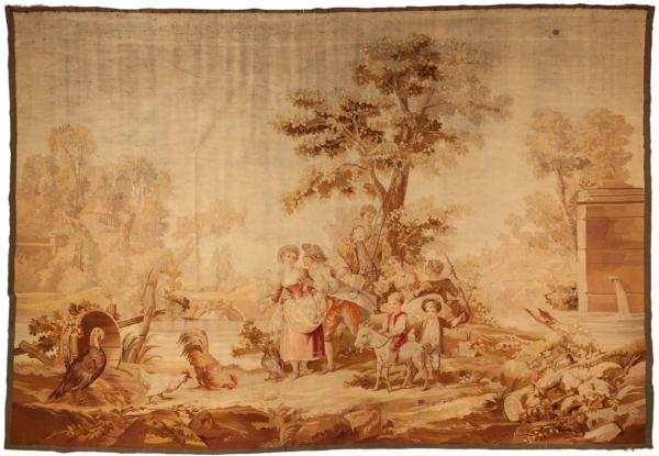 Antique English Tapestry at Essie Carpets, Mayfair London