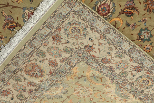 Signed Persian Tabriz Carpet