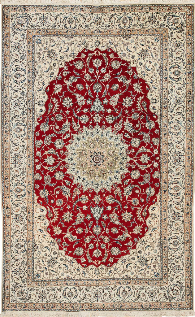 Very Fine Signed Persian Nain Rug at Essie Carpets, Mayfair London