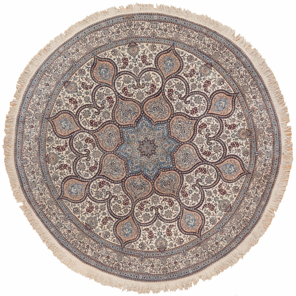 Very Fine Round Persian Nain Rug at Essie Carpets, Mayfair London