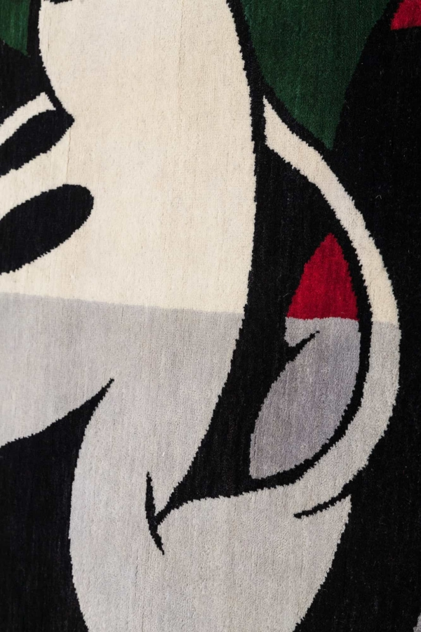 Mickey Character on Green and Grey Field Rug at Essie Carpets, Mayfair London