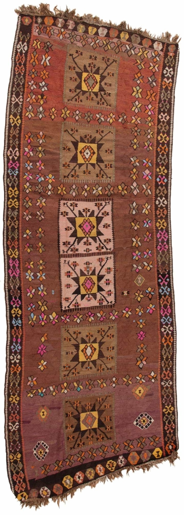 Turkish Runner Kilim I Runner at Essie Carpets, Mayfair London