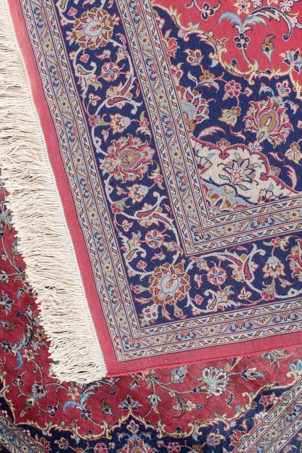 Very Fine, Signed Persian Kashan Rug at Essie Carpets, Mayfair London