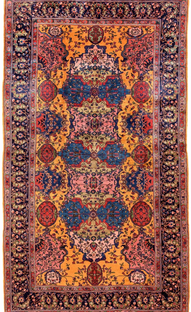 Fine Persian Saruk Carpet at Essie Carpets, Mayfair London