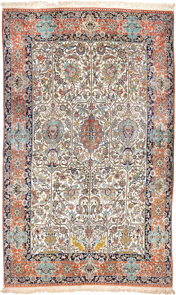 Exquisite Very Fine Turkish Hereke Carpet at Essie Carpets, Mayfair London