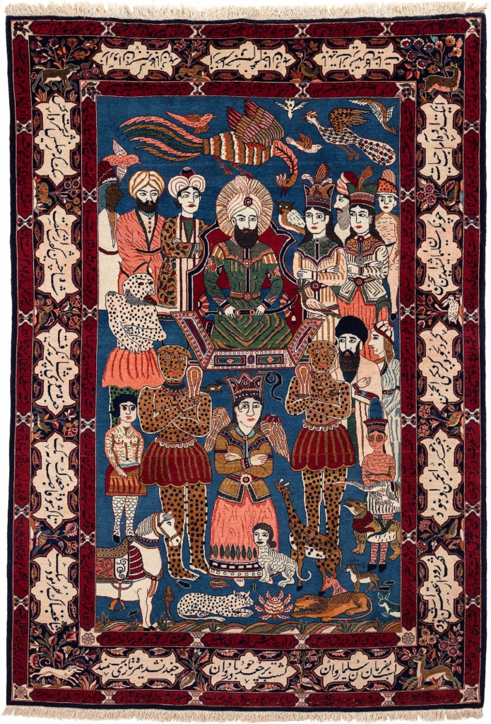 King Solomon Court Scene Fine Persian Kashan Rug at Essie Carpets, Mayfair London