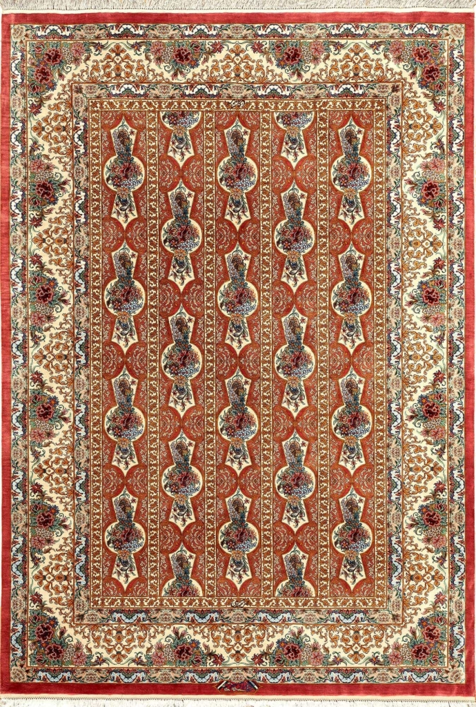 Extremely Fine and Rare Persian Qum Rug at Essie Carpets, Mayfair London