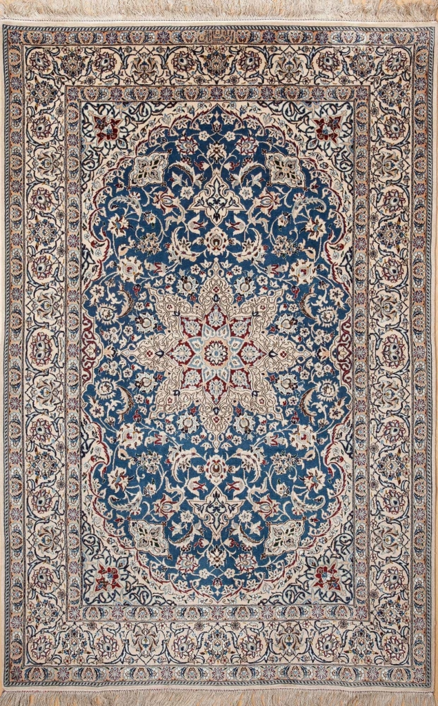 Exquisite Persian Nain Rug at Essie Carpets, Mayfair London