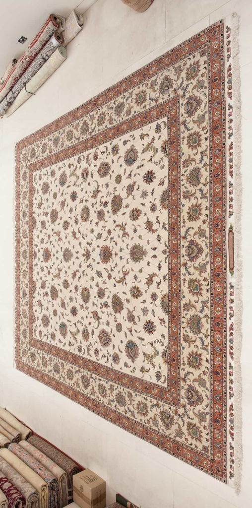Square Fine, Signed Persian Tabriz Carpet at Essie Carpets, Mayfair London