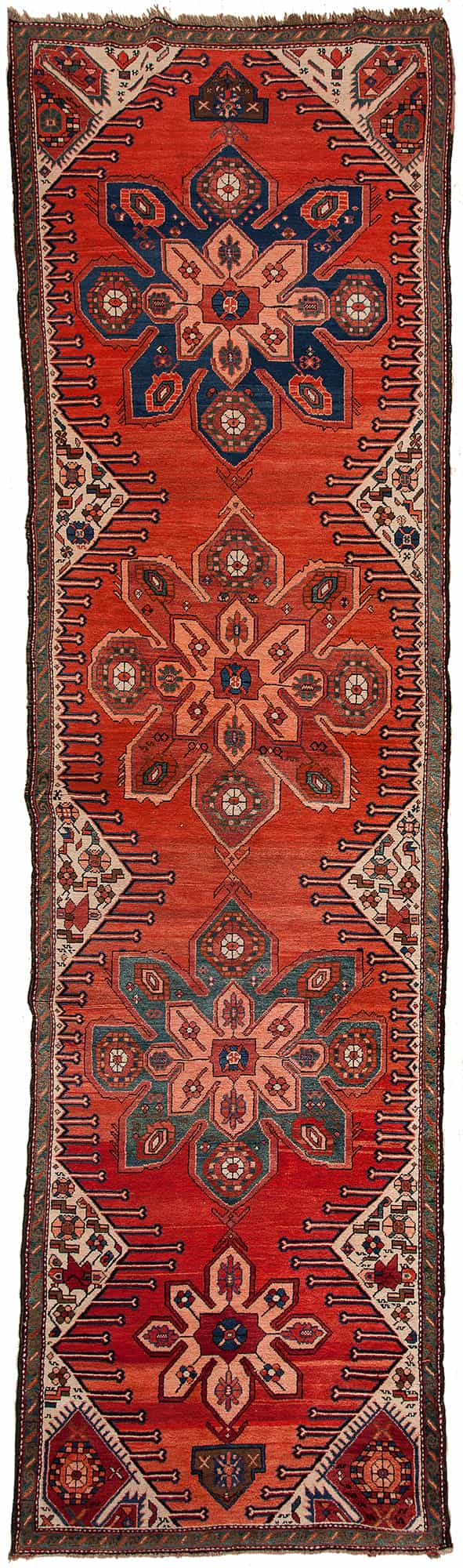 Antique Karabakh Runner Runner at Essie Carpets, Mayfair London