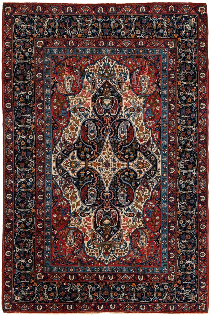 Extremely Fine and Rare Persian Tehran Rug at Essie Carpets, Mayfair London