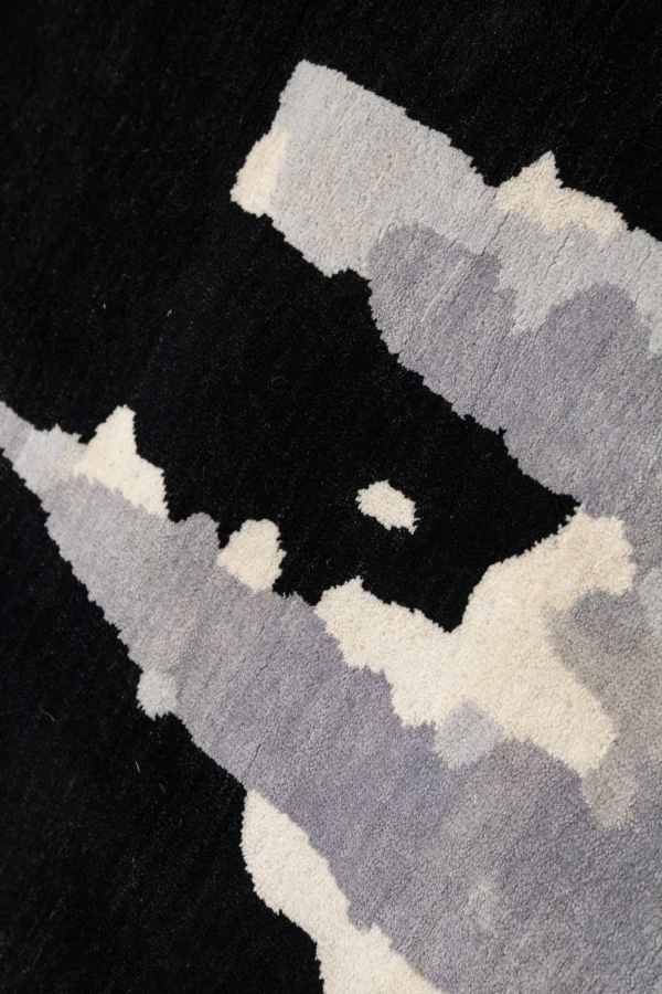 Mickey Character inside Scratch Out Central Field Runner Runner at Essie Carpets, Mayfair London