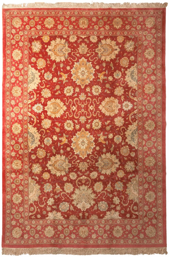 Persian Signed Tabriz  Carpet at Essie Carpets, Mayfair London