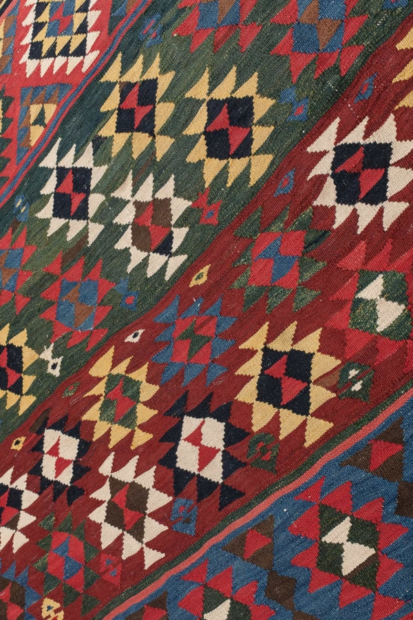 Very fine, magnificent, old  Kilim at Essie Carpets, Mayfair London