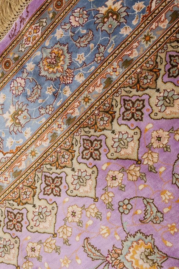 Extremely Fine, Signed Persian Tabriz Rug at Essie Carpets, Mayfair London