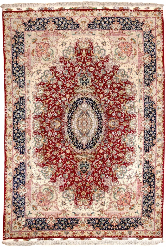 Extremely Fine Signed Persian Tabriz Carpet at Essie Carpets, Mayfair London